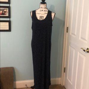 GAP navy blue stretchy maxi dress, size med